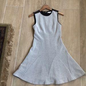 Rebecca Taylor Black & White Fit & Flare Dress Sz0
